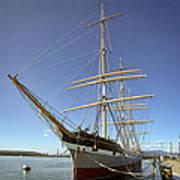 The Balclutha Historic 3 Masted Schooner - San Francisco Print by Daniel Hagerman