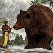 The Bear Woman Print by Daniel Eskridge