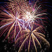 The Beauty Of Fireworks Print by Garry Gay