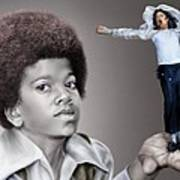 The Best Of Me - Handle With Care - Michael Jacksons Print by Reggie Duffie