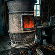 The Blacksmiths Furnace - Industrial Print by Gary Heller
