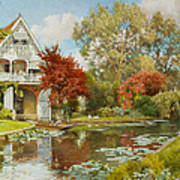 The Boathouse Print by Alfred Parsons