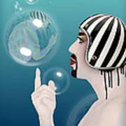 the Bubble man Print by Mark Ashkenazi