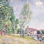 The Builder's Yard At Matrat Moret-sur-loing Print by Alfred Sisley