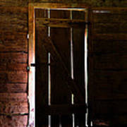 The Cabin Door Print by David Lee Thompson