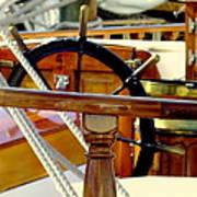 The Captain's Wheel Print by Karen Wiles