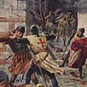 The Capture Of Constantinople Print by John Harris Valda