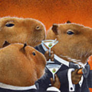 The Capybara Club... Print by Will Bullas