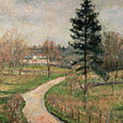The Chateau At Busagny Print by Camille Pissarro