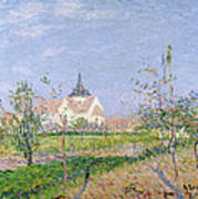 The Church At Vaudreuil Print by Gustave Loiseau