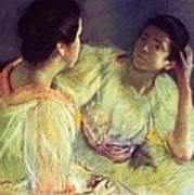 The Conversation Print by Mary Stevenson Cassatt
