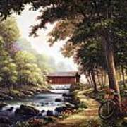 The Covered Bridge Print by John Zaccheo