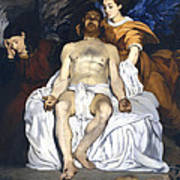 The Dead Christ With Angels Print by Edouard Manet