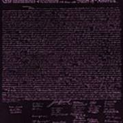 The Declaration Of Independence In Negative Pink Print by Rob Hans