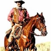 The Duke  John Wayne Print by Iconic Images Art Gallery David Pucciarelli