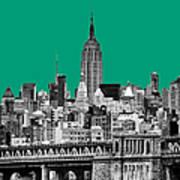 The Empire State Building Pantone Emerald Print by John Farnan