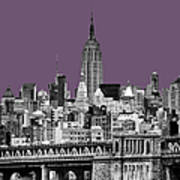 The Empire State Building Plum Print by John Farnan