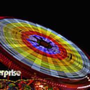 The Enterprise Amusement Park Ride Print by Deb Fruscella
