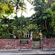 The Ernest Hemingway House - Key West Print by Bill Cannon