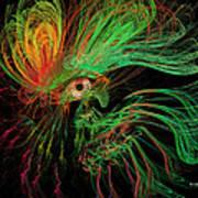 The Eye Of The Medusa Print by Angela A Stanton