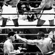 The First Sonny Liston Vs. Cassius Clay Print by Everett