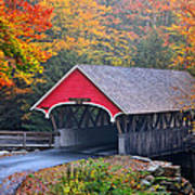 The Flume Covered Bridge Print by Thomas Schoeller