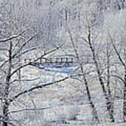 The Frozen Bridge Print by Maria Angelica Maira