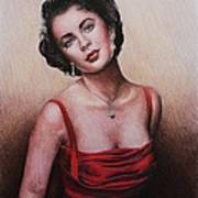 The Glamour Days Elizabeth Taylor Print by Andrew Read