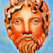 The God Jupiter Or Zeus.  Print by Augusta Stylianou