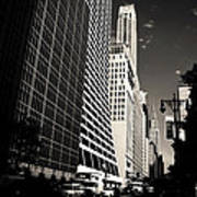 The Grace Building And The Chrysler Building - New York City Print by Vivienne Gucwa