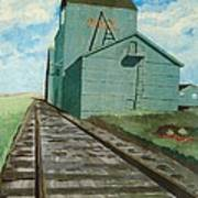 The Grain Elevator Print by Anthony Dunphy