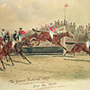 The Grand National Over The Water Print by William Verner Longe