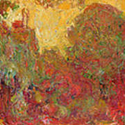 The House Seen From The Rose Garden Print by Claude Monet