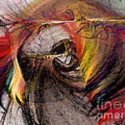 The Huntress-abstract Art Print by Karin Kuhlmann
