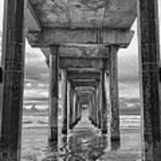 The Iconic Scripps Pier Print by Larry Marshall