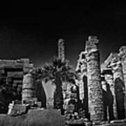 The Karnak Temple Bw Print by Erik Brede