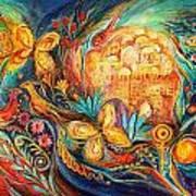 The Key Of Jerusalem Print by Elena Kotliarker