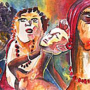 The Ladies Of Loket In The Czech Republic Print by Miki De Goodaboom