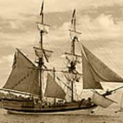 The Lady Washington Ship Print by Kym Backland
