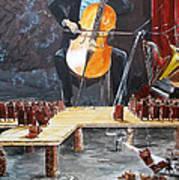 The Last Concert Listen With Music Of The Description Box Print by Lazaro Hurtado