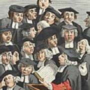 The Lecture, Illustration From Hogarth Print by William Hogarth