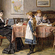 The Lesson Print by  George Goodwin Kilburne