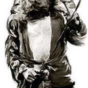 The Lion  Robert Plant Print by Iconic Images Art Gallery David Pucciarelli