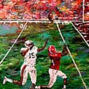 The Longest Yard - Alabama Vs Auburn Football Print by Mark Moore