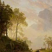 The Merced River In Yosemite Print by Albert Bierstadt