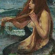 The Mermaid Metal Print by John William Waterhouse