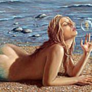 The Mermaids Friend Print by John Silver