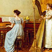 The Music Room Print by George Goodwin Kilburne