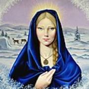 The Nordic Madonna Print by Nathalie Chavieve