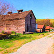 The Old Barn 5d22271 Print by Wingsdomain Art and Photography